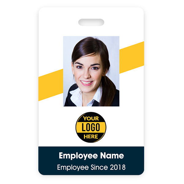 Slanted Stripe ID Badge