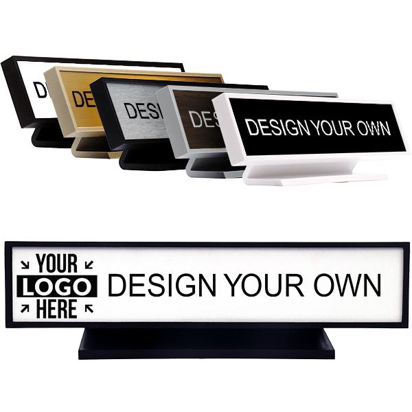 """Square Corner Engraved Desk Sign - 2"""" x 9"""""""