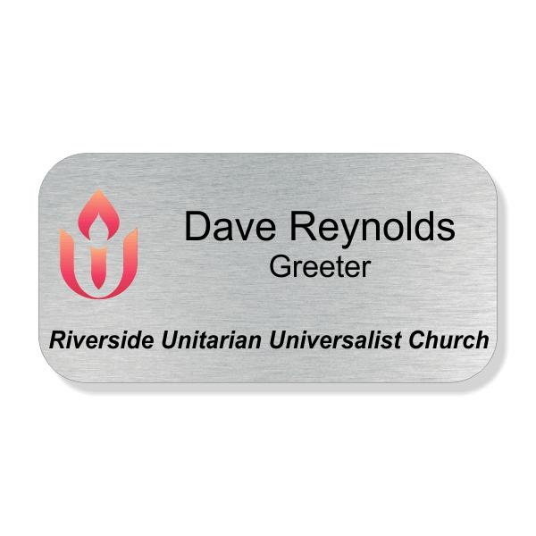 Unitarian Full Color Name Tag - Large Rectangle