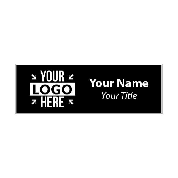 Upload Your Logo Engraved Name Tag