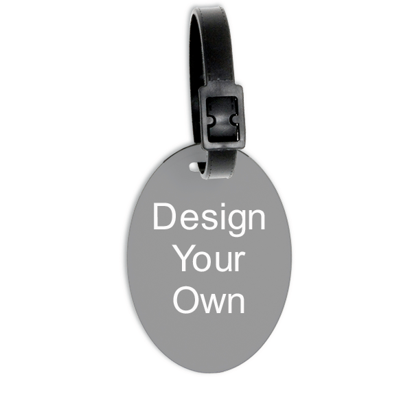 Vertical Oval Polymer Luggage Tag