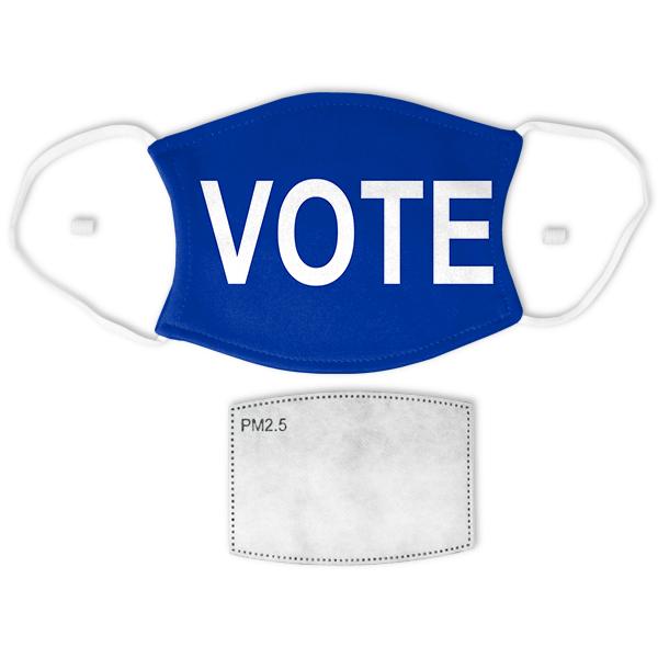 "Blue ""VOTE"" Adult Size Face Mask"