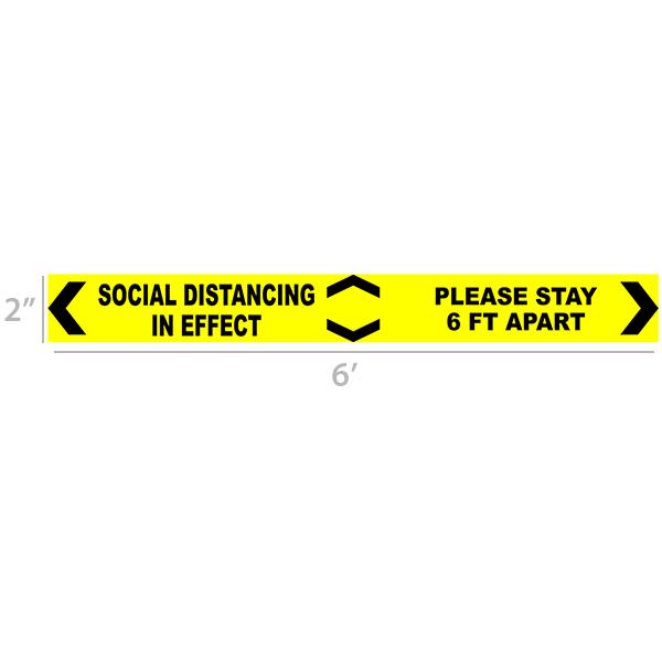 Social Distancing in effect 6 Ft Floor Decal