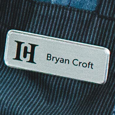 Custom Color Name Tag