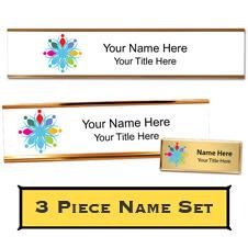 Custom Desk Plate, Wall Plate, and Name Tag Set